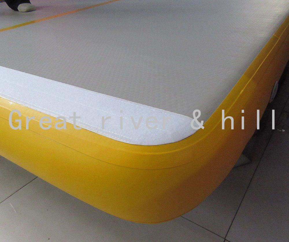 Great river & hill gymnastics mats air track high quality with fedex shipping and tax 9m x1m x10cm