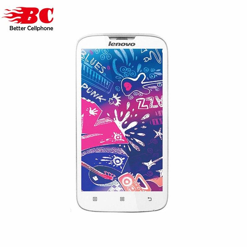 bilder für Original LENOVO A560 5,0 zoll Snapdragon MSM8212 quad core Android 4.3 2MP 512 MB RAM 4 GB ROM GSM 3G WCDMA dual sim smartphone