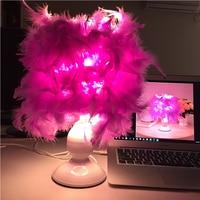 Led Table Lamp Purple Bedroom Lamps 12V Usb Desk Lamp Study Bedside Lamps Usb Led Reading