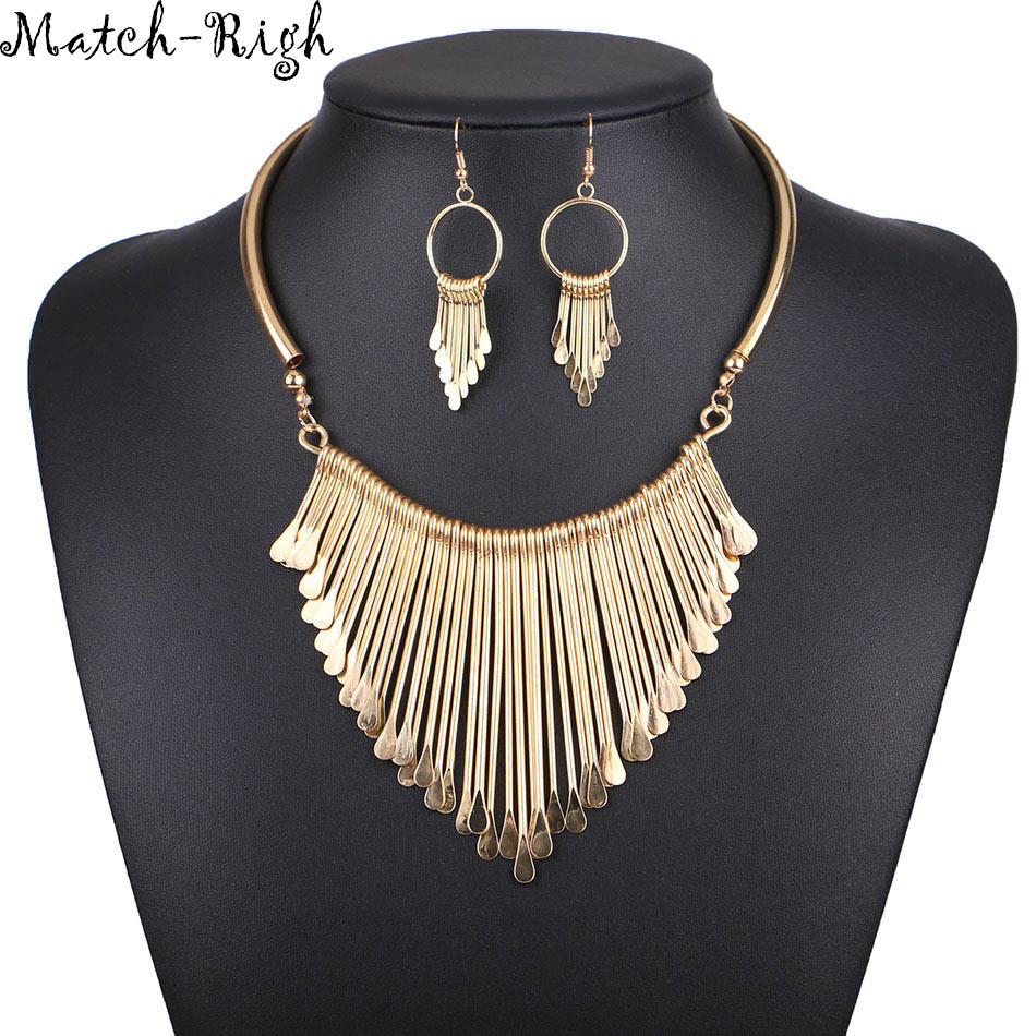 Match-Right Women Necklace Alloy Statemes