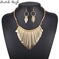 Women Necklace Alloy Statement Necklaces Pendants Tassel Jewelry Ethnic Necklace Women Accessories for Gift Party NL564