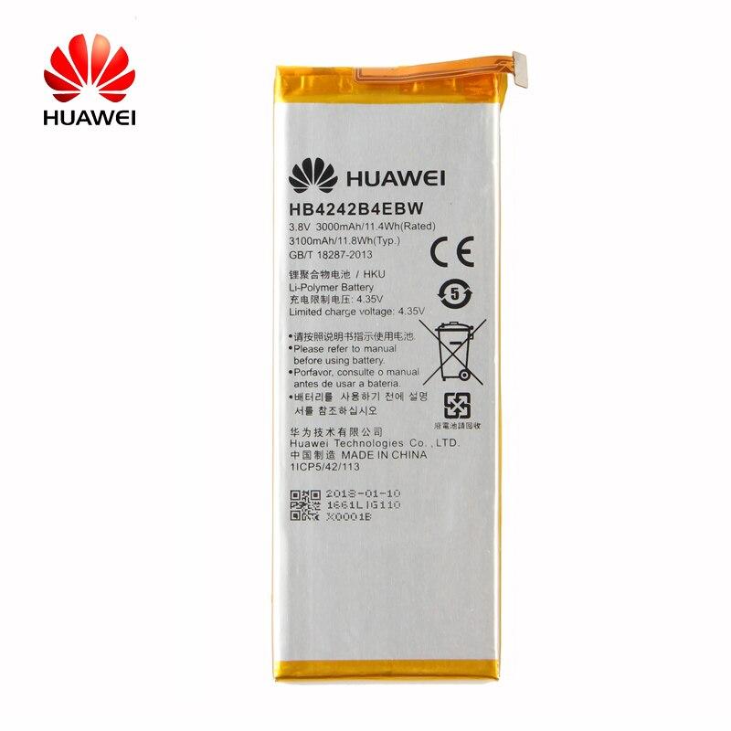 Original Huawei HB4242B4EBW Li-Ion telefon batterie Für Huawei honor 6 H60-L01 H60-L02 H60-L11 H60-L04 honor 4X3000 mah