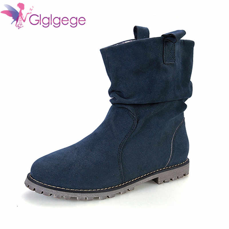 Glglgege New Arrival Autumn Winter Girl Soft bottom Booties Fashion Wedges Women Tassel Boots Warm Shoes Flat Ankle Boots Female