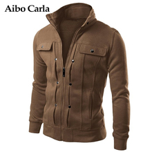 Mens Autumn Jackets Basic Coats Solid Color Male Casual Stand Collar bomber Jacket Slim Fit Zipper