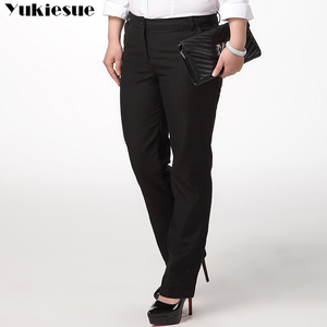 Image 2 - OL office womens pants for women pantalon femme streetwear with high waist formal  suit pants Plus size 9XL female trousers
