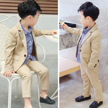 2019 spring Han edition children suit two-piece handsome pants pure color baby sells  Fashion kids clothing ALI 306