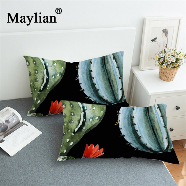 New black cactus home textile bedding pillowcase 3D printing Plants Pillow Case Covers  PC68
