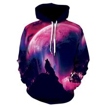 Brand Clothing Mens Hooded 3D Wolf Hoodies Men Sweatshirts High Quality Pullover Novelty Male Slim Tops Coat