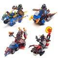 4 Unids Nexo Caballeros War chariot Mini Militar arma Marvel Building Blocks Juguetes Compatible legoes