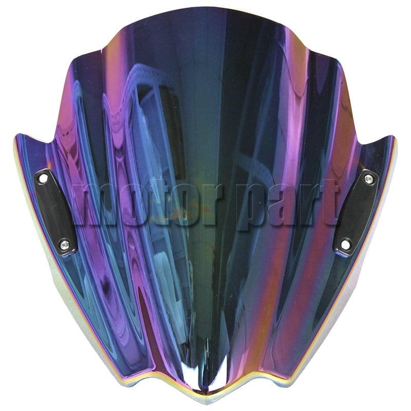 Motorcycle Windshield For 2006 2015 Yamaha MT 03 02 01 07 09 125 ABS Plastic Windscreen Deflectors Iridium