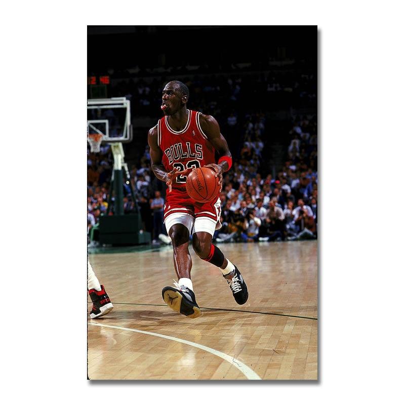 Michael Jordan Art Silk Poster 12x18 24x36