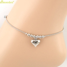 Diomedes Newest Fashion Diomedes Heart-shaped Pendant Dolphins Anklet Bracelet Sandal Beach Foot Jewelry anklets for women