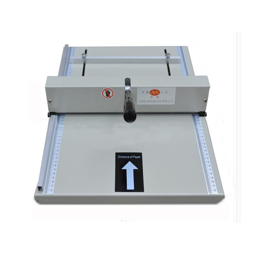 ФОТО 1PC Brand new Manual paper creaser creasing machine 350mm,A3 A4 Card covers, High gloss covers