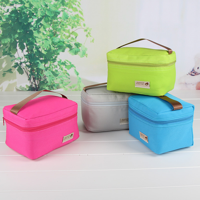New   Mini And Small Lunch Bags Pouch Storage Box Flowers Insulated Thermal Cooler Bag Picnic Tote Bolsa Termica Lancheira -15