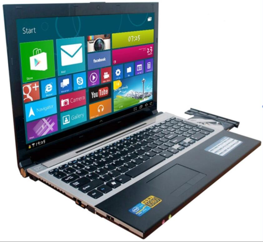15.6inch 1920X1080P 4GB RAM+320GB HDD N3520 Quad Core Laptop Computer with Russi