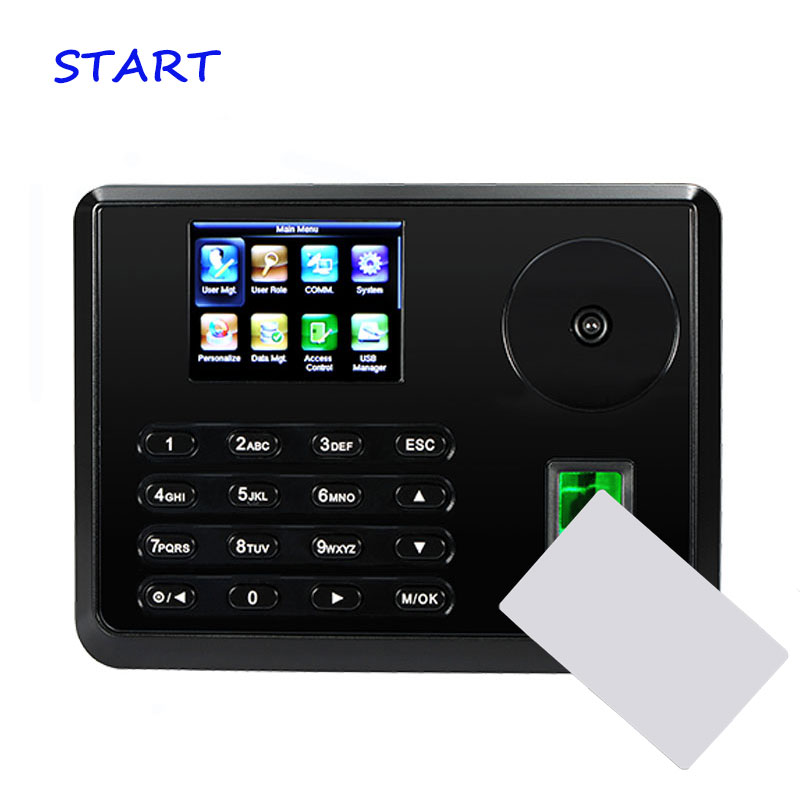 ZK Palm Time Attendance Biometric Fingerprint Time Clock With 13.56MHz MF Card Reader Palm Employee Attendance