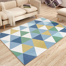 Multi-size North European Style Simple Geometric Pattern Household Living Room Sofa Table Bedroom Carpet  Non Slip Mat
