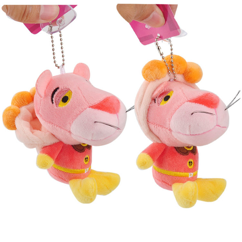 Anpanman Baikinman Pink Panther Plush Toys Keychain Sitting Superman Pink Leopard Panther Soft Animals Stuffed Dolls Key Bag Pendants10pcslot 10cm (2)