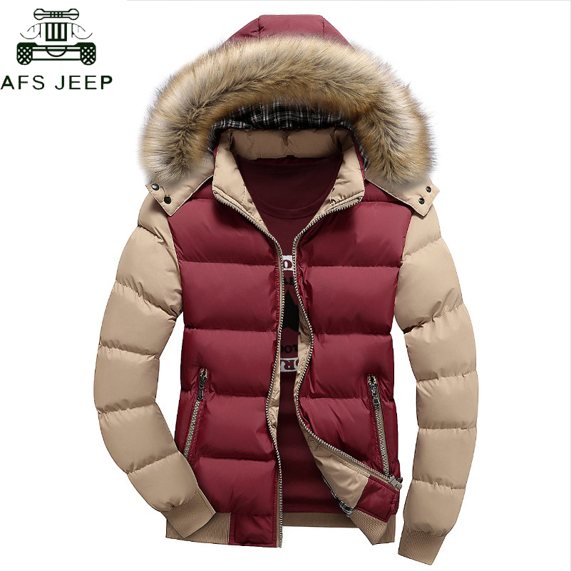 Brand   Parkas   Men Plus Size 5XL Thick Warm Winter jacket men Windproof Fur Hood Casual Cotton   Parkas   hombre invierno Veste Homme