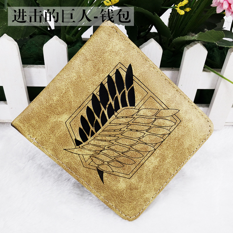 Folding Type Wallet/ CoinPurse Printed With Anime Attack on Titan/My Neighbor Totoro/Captain America/ONE PIECE/Sword Art Online japanese anime poke death note attack on titan one piece game ow short wallet with coin pocket zipper poucht billetera