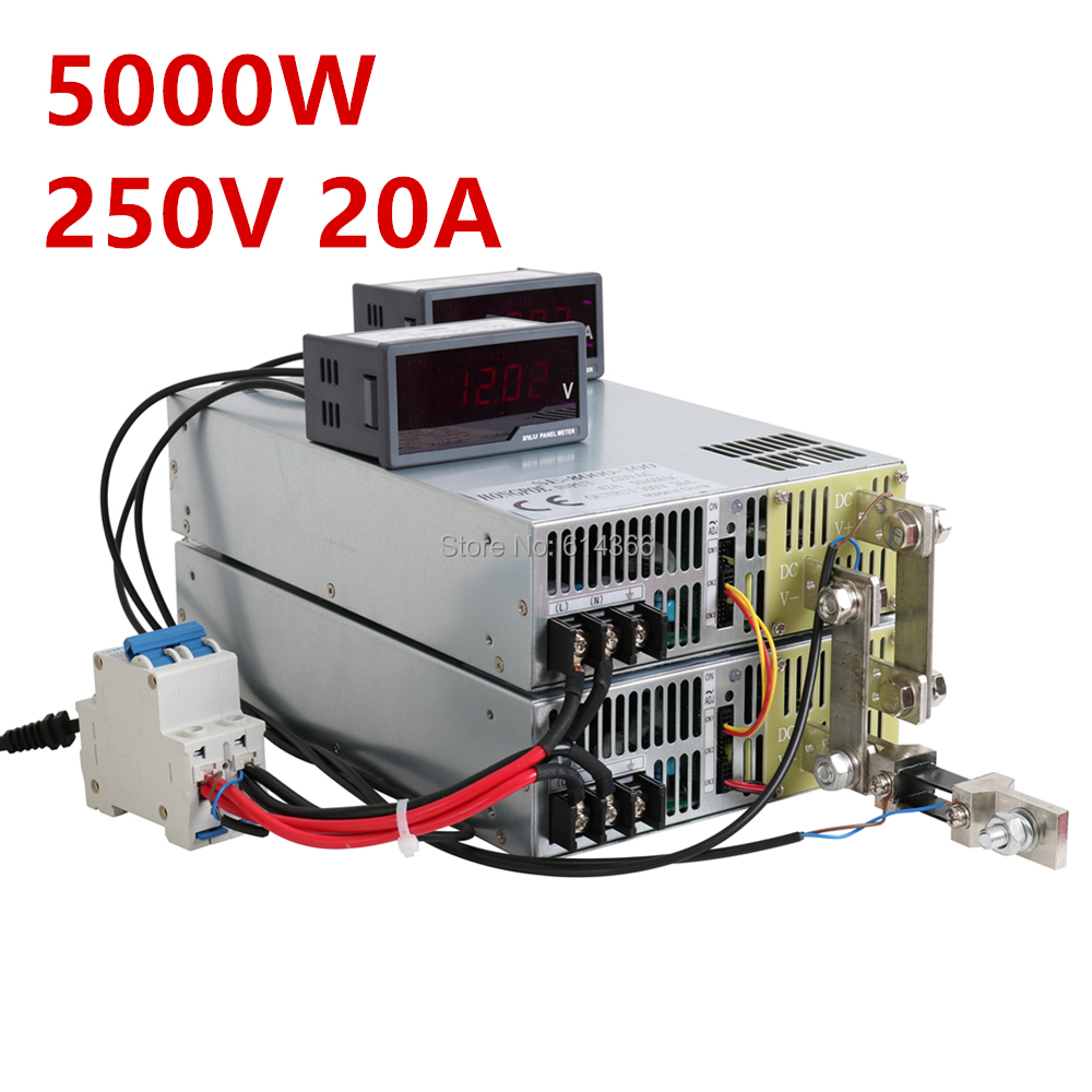 1PCS 5000W 250V power supply 250V 20A AC-DC High-Power PSU 0-5V analog signal control 0-250VDC adjustable power supply1PCS 5000W 250V power supply 250V 20A AC-DC High-Power PSU 0-5V analog signal control 0-250VDC adjustable power supply