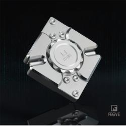 FEGVE Fidget Spinner Hand Spinner Metall CNC 340 Silber edelstahl matrix Quartet EDC 688 Lager Spielzeug FG42