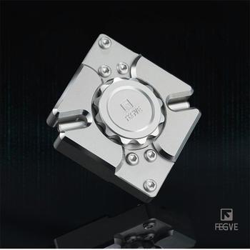 FEGVE Fidget Spinner de mano de Metal CNC 340 plata Acero inoxidable matriz cuarteto EDC 688 cojinetes de juguete FG42