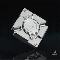 FEGVE Fidget Spinner Hand Spinner Metal CNC 340 Silver stainless steel matrix Quartet EDC 688 Bearings Toys FG42