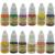 OPHIR 355 unids/set Completo 2 Ametralladoras Tatuaje 12 Tintas de Color Del Tatuaje Pigmento Apretón de la Aguja y Boquilla Body Art Set # TA075