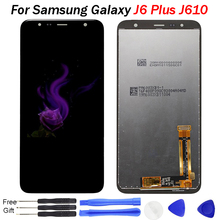 купить J610F lcd For Samsung Galaxy J6 Plus LCD Display 2018 J6+ J610F J610FN LCD Display with Touch Screen Digitizer Assembly Replace по цене 1432.82 рублей