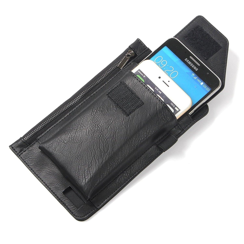 TienJueShi Dark Blue Book Stand Premium Retro Business Flip Leather Protector Case Cover Skin Etui Wallet for Caterpillar Cat S61 5.2 inch