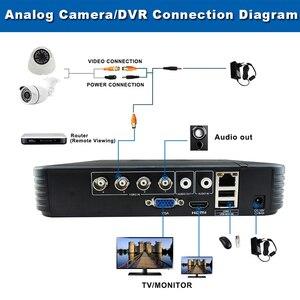 Image 5 - Mini 4CH 8CH 1080N AHD DVR 5 في 1 الهجين DVR HVR مسجل فيديو Onvif XMEYE سحابة P2P أمن الوطن 1080P NVR CCTV DVR نظام