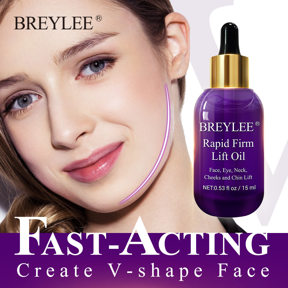 BREYLEE Essential Oils Rapid Firming Lifting Face Skin Care Essence Oil Massage Anti-Wrinkle Anti-Aging Powerful V Shape Facial