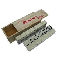 Caja de madera de alta calidad domino 28 UNIDS Pai Gow juego Juguete juego de mesa tablero de aprendizaje y educación juguetes para niños y adultos juego