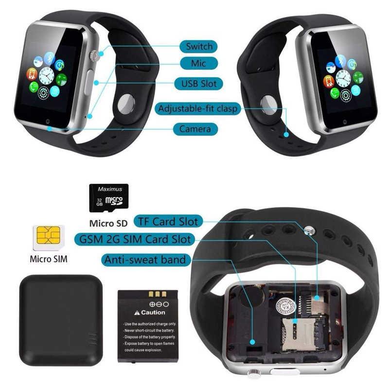 Bluetooth montre intelligente Sport podomètre avec SIM caméra Fitness Tracker GSM reloj hommes femmes Smartwatch pour Android Apple Ios