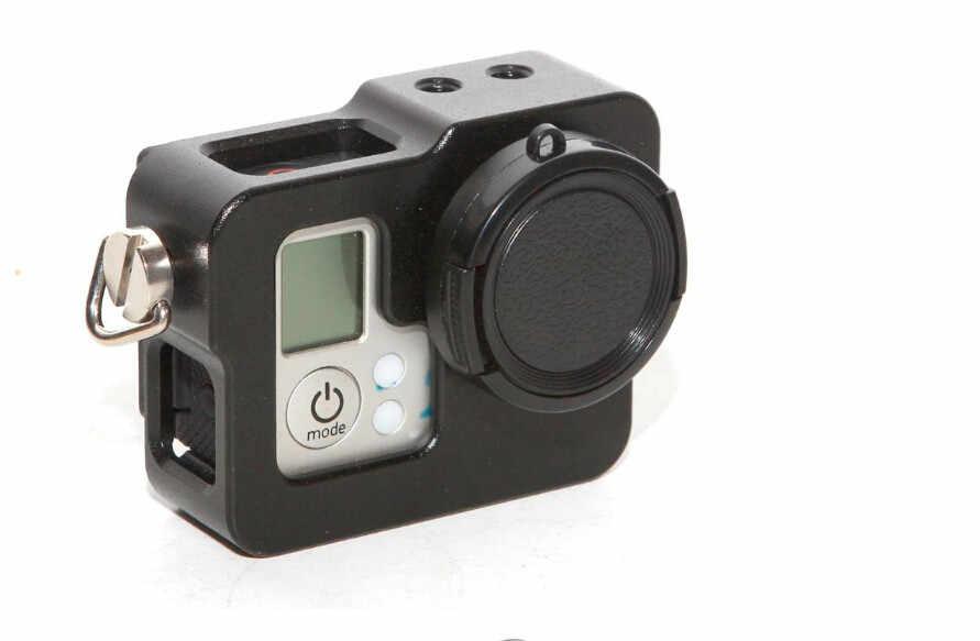 أسود الغلاف الواقي الألومنيوم حالة الحدود شل قفص ل GoPro بطل 4/3 +/3/2 مع غطاء العدسة