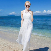 Women 100 Silk dress Beach 100% Natural Elegant White O-neck Holiday summer dresses Free Shipping HOT Sell