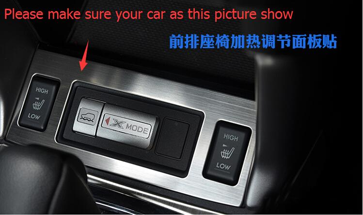 Car Seat Heating Button Decorative Cover Trims For Subaru Forester 2013 2014