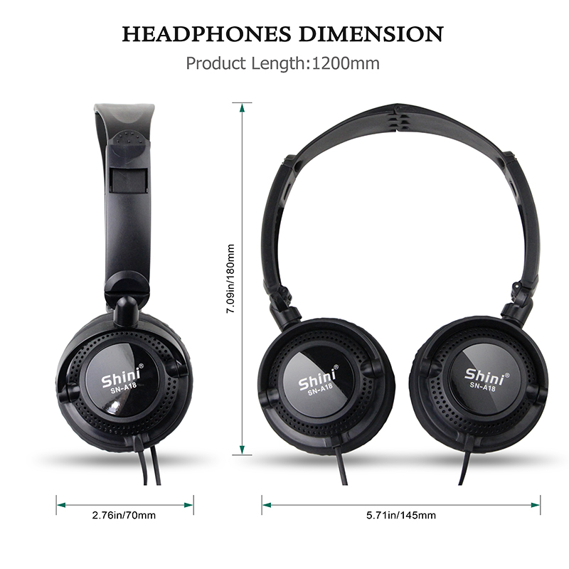 ShiniA18 Stereo Headphone Bass Earphone 3 5mmHeadset General Purpose Earpiece For Mobile Phone Iphone Xiaomi Fone De Ouvido in Headphone Headset from Consumer Electronics
