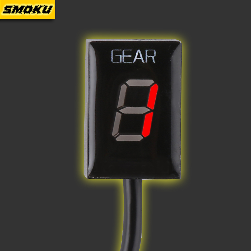 Motorcycle 1-6 Level Ecu Plug Mount Speed Gear Display Indicator For Suzuki Intruder 800 V-Strom GSXR 600 SV650 750 SV 650