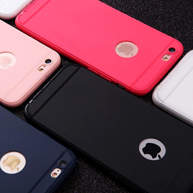 BROTOLA pour Coque iPhone 7 Cas iPhone 6 Cas Silicone TPU Ultra Mince de Couverture Arrière pour 5 5S 6 s se 6 8 Plus X XS MAX XR Téléphone Cas