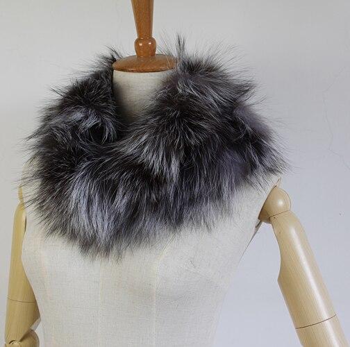 Hiver mode femmes réel naturel argent fourrure de renard/réel cristal renard fourrure écharpe enveloppes étole châles cadeaux FFS004