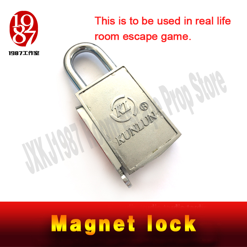 Magnet lock prop for escape room new magnet key lock Real life escape mysterious room game prop from JXKJ1987 combination lock(China)