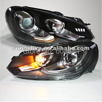 For VW Golf 6 Headlight GTI Style Right Hand Drive Car Used