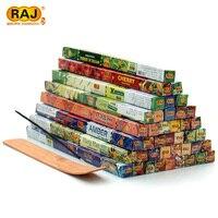Livraison gratuite Beaucoup 12 Saveur Mixte RAJ Inde Encens À La Main Aromathérapie Bâtons Boîtes Obtenir Encens Plaque Bon pour le Cadeau