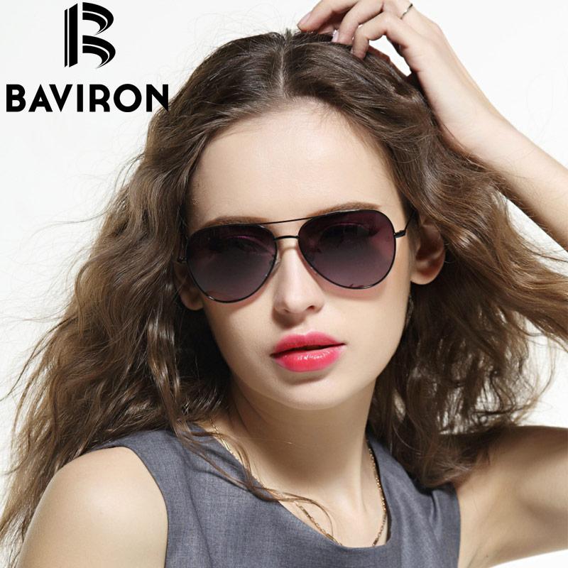 BAVIRON Ultrathin Legs Aviator Sunglasses Women Brand Designer Glasses Men Driving Mirror Eyewear Unisex Pilot Sun Glasses 3027