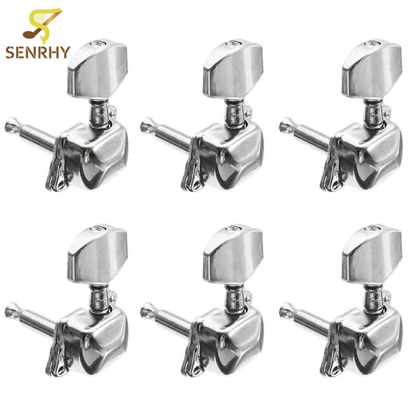 6pcs 3r 3l acoustic guitar string semiclosed tuning pegs tuners machine heads bushing screws. Black Bedroom Furniture Sets. Home Design Ideas
