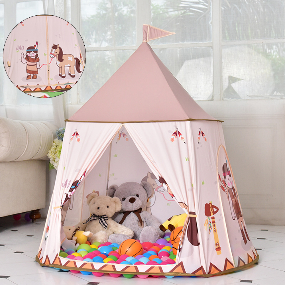 Enfants Portable tentes enfants jouer maison tente balle piscine Tipi Tipi tente bébé chambre anniversaire cadeaux photographie accessoires maisons de jeux
