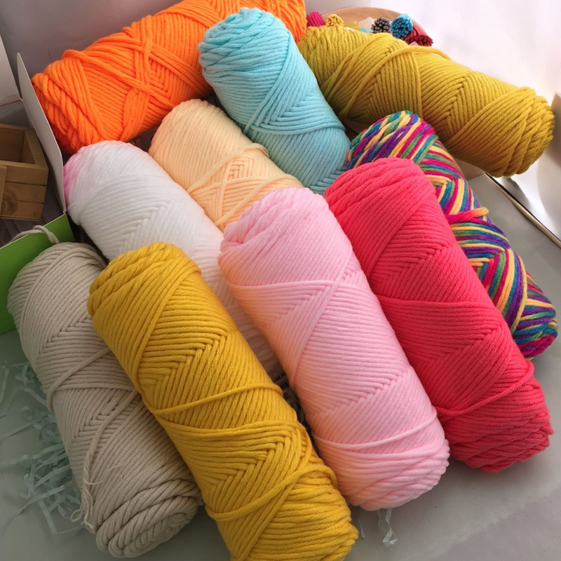 62 colors 8 ply 100% cotton Crochet Knitting Super soft cotton yarn Crochet Craft 100g Baby for hand knitting hat Scarve sweater(China)