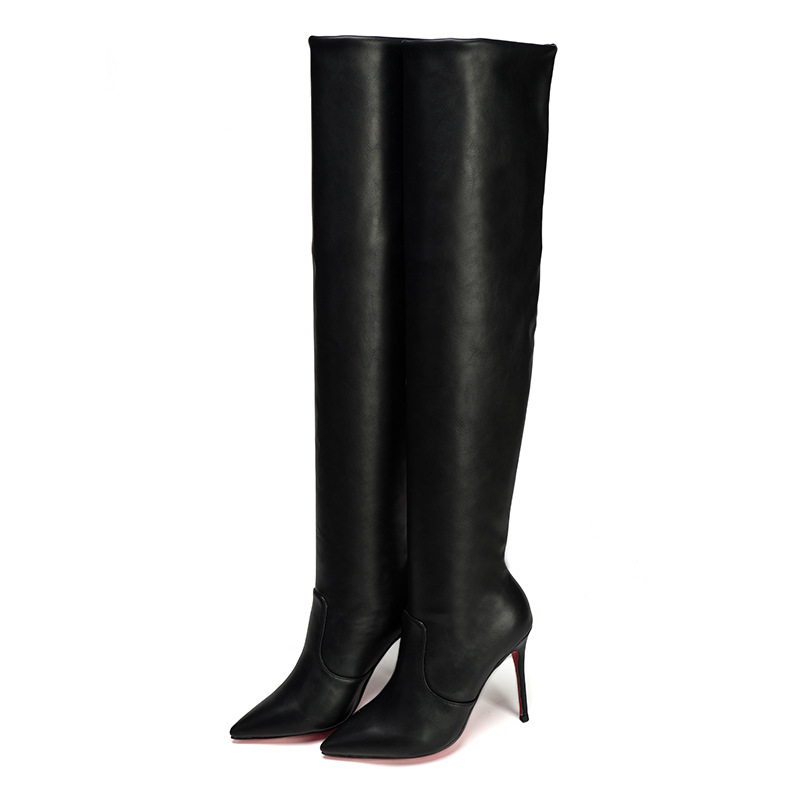 New autumn and winter with pointed long tube high heel boots